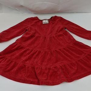 Hanna Andersson stretch velvety red twirl dress